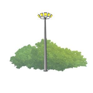 Прожекторные мачты с мобильной короной