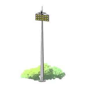 Прожекторные мачты со стационарной короной